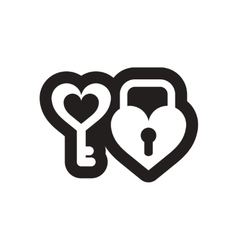Flat icon in black and white key lock vector