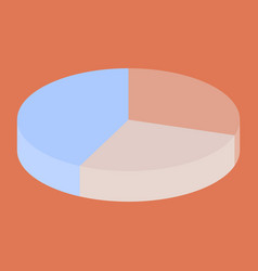 Flat icon on stylish background pie chart vector