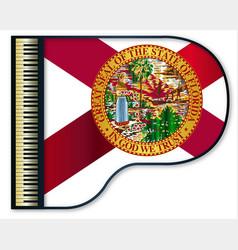 Grand piano florida flag vector