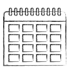 grunge organizer calendar to important event day vector image