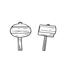 grunge wooden plank hand drawn vector image