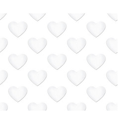 heart seamless pattern love symbol background vector image