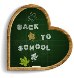 Heart shape blackboard with expression back to vector