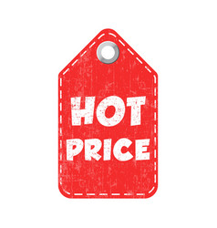 hot price hang tag vector image