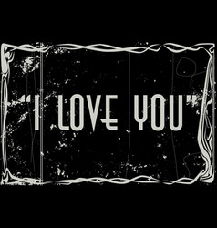 I love you movie frame vector