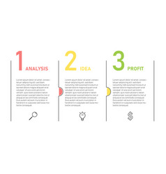 Infographic template for business presentation vector