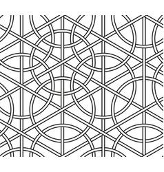 interlaced circles seamless line geometric vector image