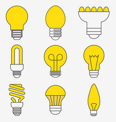 light bulb and led lamp vector image