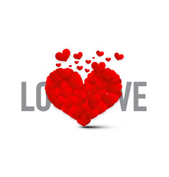 love symbol with red hearts heart isolate on vector image