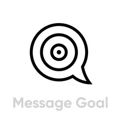 Message goal personal targeting icon editable vector