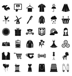 mother dress icons set simple style vector image
