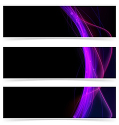 Neon line glow club header collection vector