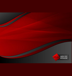 New design red and black color geometric abstract vector