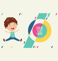 Of kids abstract background vector