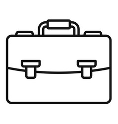 office briefcase icon outline style vector image