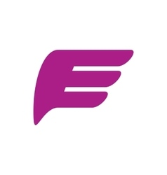 Purple wing icon simple style vector image