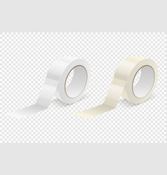 realistic 3d glossy tape roll icon set or vector image