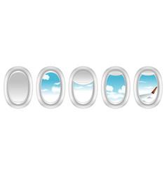 realistic airplane window vector image