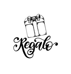 regalo hand lettering translation from vector image
