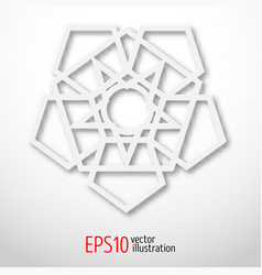 sacral geometry symbol white logo for web design vector image