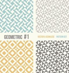 set four geometric patterns vector image