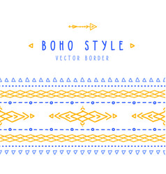 set of hand drawn seamless brushes in boho vector image