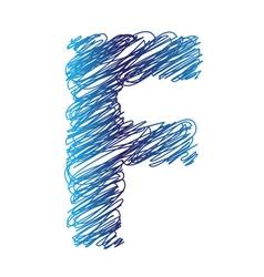 Sketched letter F vector