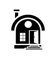 Small urban house icon simple style vector