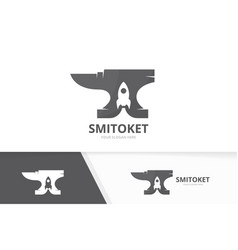 Smith and rocket logo combination vector