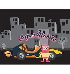 Superhero racecar vector