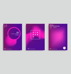 Trendy abstract design templates vector