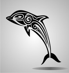 Tribal Dolphin vector image
