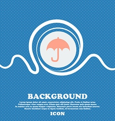 Umbrella sign icon Blue and white abstract vector image
