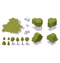 Various isometric views 3d belarus map with vector