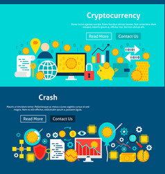 website cryptocurrency banners vector image
