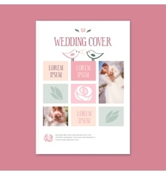 Wedding template cover booklet The cover vector