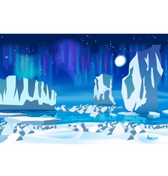 Arctic ice at night vector image vector image
