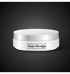 Blank Cosmetic Container for Cream Powder or Gel vector image