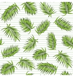 Exotic tropical palm green leaves seamless pattern vector image vector image