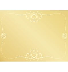 golden Valentines Day background vector image vector image
