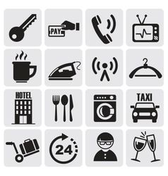 Hotel and rest icons set vector image