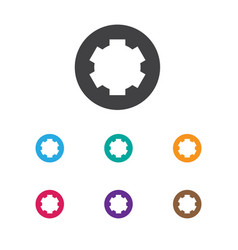 Of tools symbol on gear icon vector