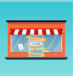 store shop is closedbankrupt flat design modern vector image vector image
