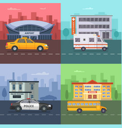 background with different municipal vector image vector image