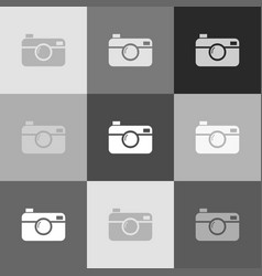 digital photo camera sign grayscale vector image vector image