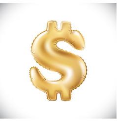 metallic gold balloons golden dollar new year vector image vector image