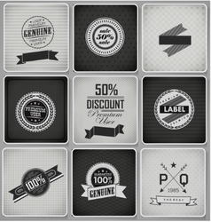 Premium Guarantee and sale Labels vector image vector image