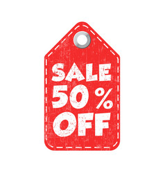 Sale 50 off hang tag vector