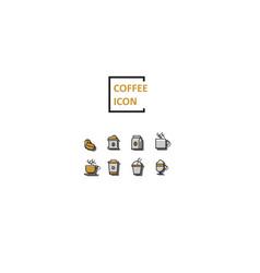 simple color coffee icon vector image vector image