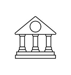 University icon Graduation and education design vector image